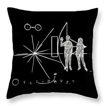Cosmos Greetings  Throw Pillow