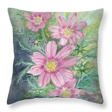 Cosmos - Painting Throw Pillow