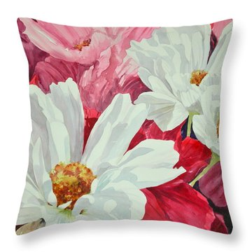Cosmos Up Close Throw Pillow