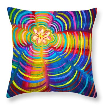 Cross Radiating Seven-fold Promise Of Hope Throw Pillow