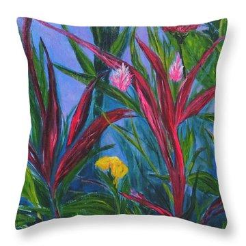 Costa Rica Throw Pillow by Diane Arlitt