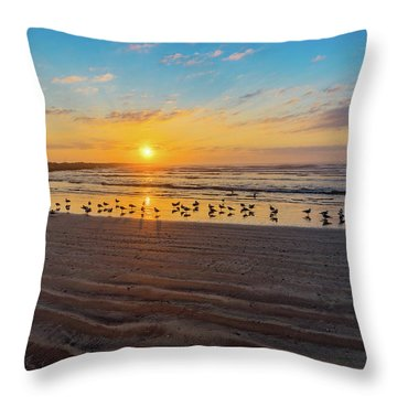 Coastal Sunrise Throw Pillow by Dave Files