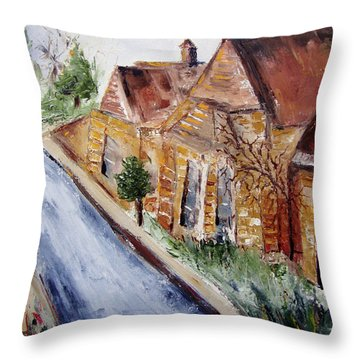 Cotswold Street Throw Pillow by Roxy Rich