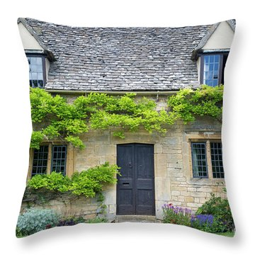 Throw Pillow featuring the photograph Cotswolds Cottage Home II by Brian Jannsen