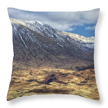 Cottage At The Base Of The Mountain Throw Pillow
