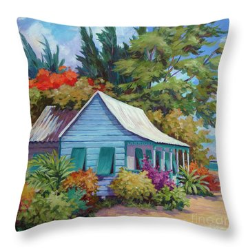 Cottage At The Water's Edge Square  Throw Pillow