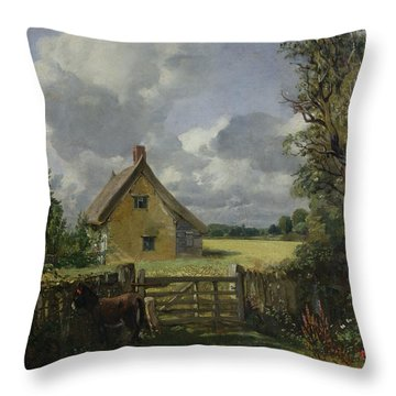 Cottage In A Cornfield Throw Pillow