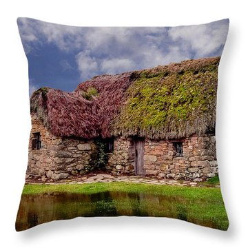 Cottage In The Highlands Throw Pillow