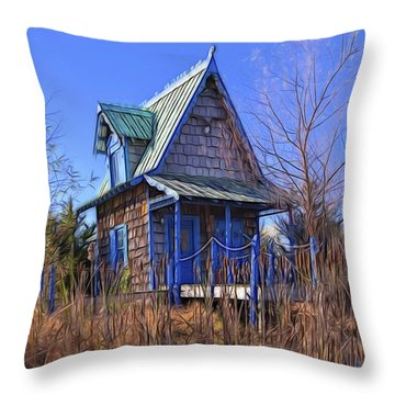 Cottage In The Willows Throw Pillow