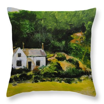 Cottage In Wales Throw Pillow