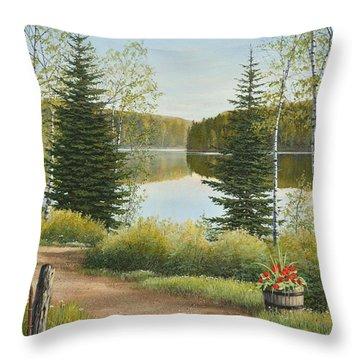 Cottage Lane Throw Pillow