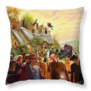 Cottage Of The Living Dead Throw Pillow by Barry Kite