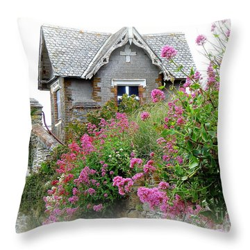 Cottage On The Hill Throw Pillow