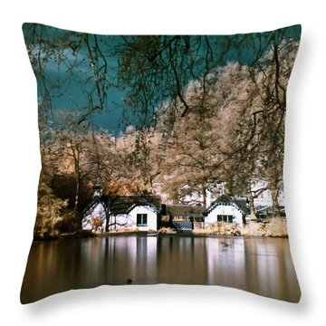 Cottage On The Lake Throw Pillow