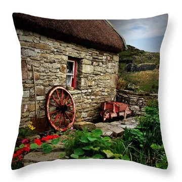 Cottage On The Moor Throw Pillow