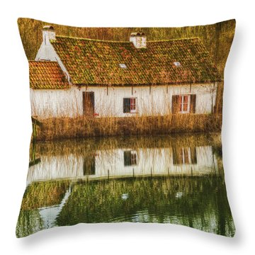 Cottage Reflection Throw Pillow