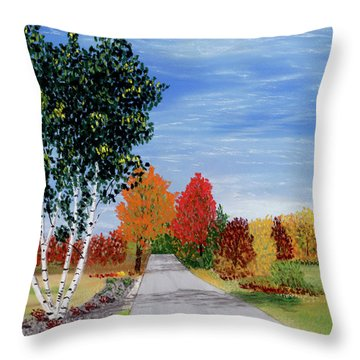 Cottage Row Throw Pillow