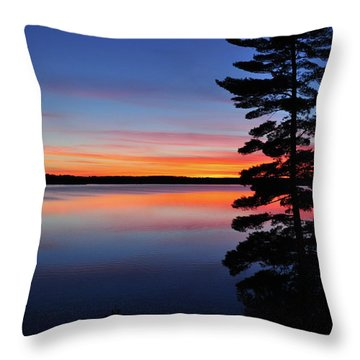 Cottage Sunset Throw Pillow
