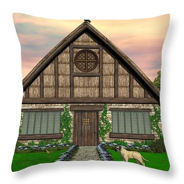 Cottage Throw Pillow by Walter Colvin