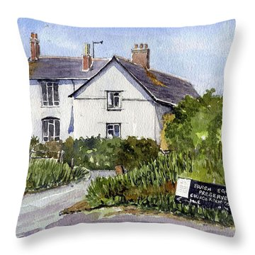 Cottages At Binsey. Nr Oxford Throw Pillow by Mike Lester