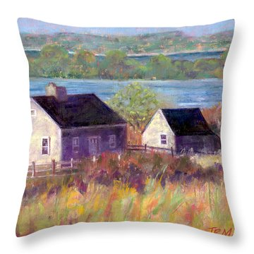 Cottages By The Bay Throw Pillow