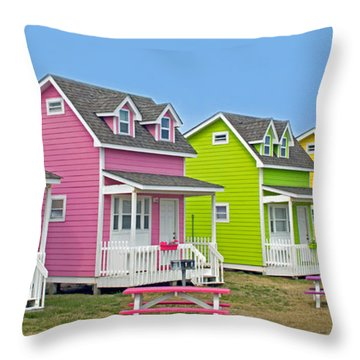 ''cottages'' Throw Pillow by Marion Johnson