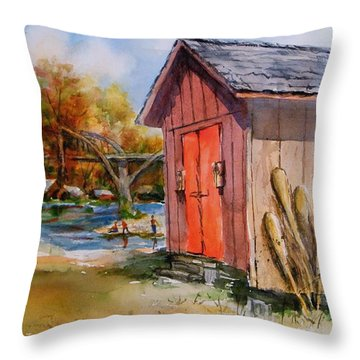 Cotter Shed Throw Pillow