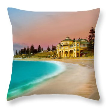 Cottesloe Beach Sunset Throw Pillow