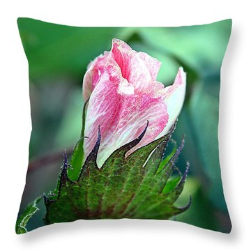 Cotton Bloom Throw Pillow