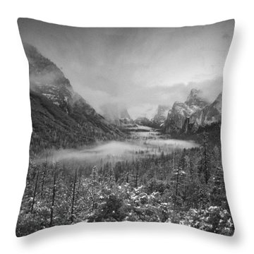 Cotton Candy Blankets Yosemite Throw Pillow