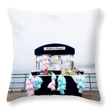 Cotton Candy Carousel- By Linda Woods Throw Pillow