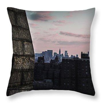 Cotton Candy City Throw Pillow