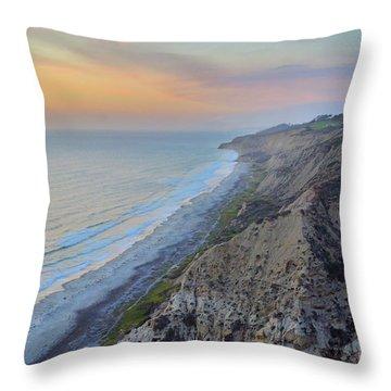 Cotton Candy Cliffs Throw Pillow