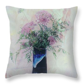 Throw Pillow featuring the photograph Cotton Candy Dreams by Linda Lees