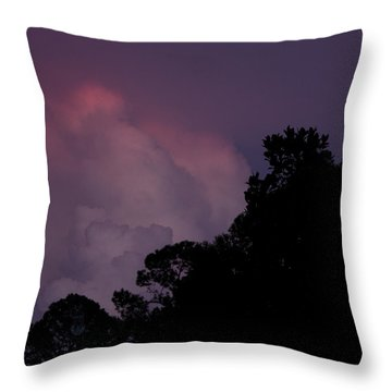 Cotton Candy Dusk Throw Pillow by Nancy Dinsmore