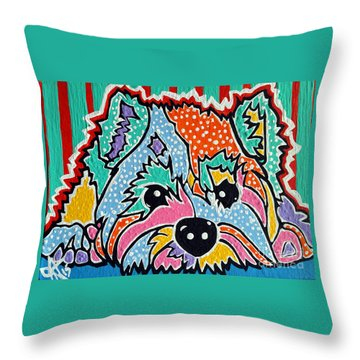 Cotton Candy Throw Pillow by Jackie Carpenter
