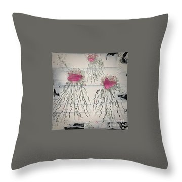 Cotton Candy Jelly-fish Throw Pillow
