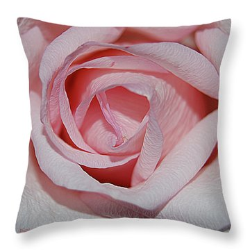Cotton Candy Rose Throw Pillow by DigiArt Diaries by Vicky B Fuller