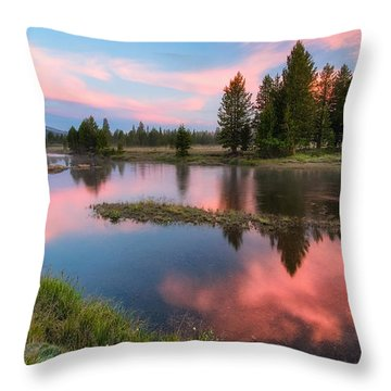 Cotton Candy Skies Throw Pillow