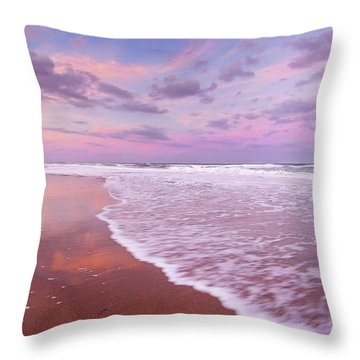 Cotton Candy Sunset. Throw Pillow
