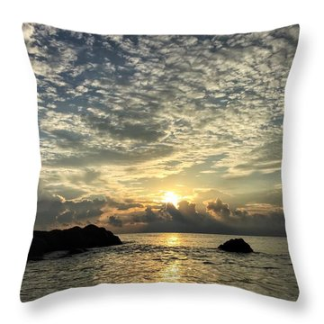 Cotton Clouds Throw Pillow