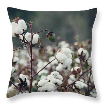 Cotton Field 5 Throw Pillow