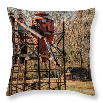 Cotton Gin In Vincent Alabama Throw Pillow by Phillip Burrow