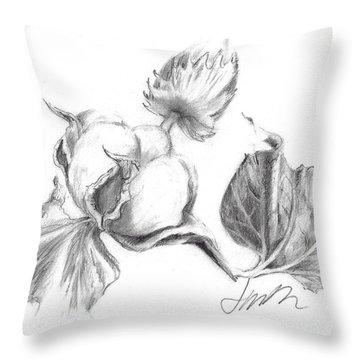 Cotton Harvest Throw Pillow
