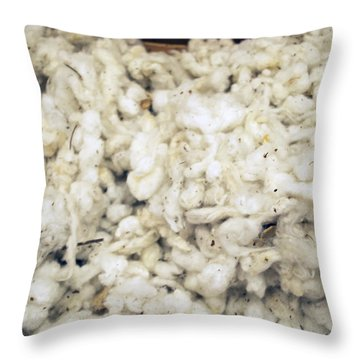 Cotton Throw Pillow by Linda Geiger