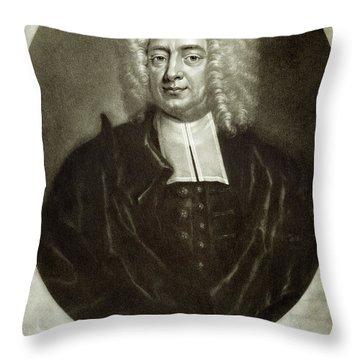 Cotton Mather 1663-1728 Throw Pillow by Granger