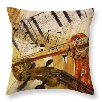 Cotton Pickin' Blues Throw Pillow