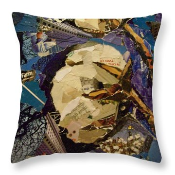 Cotton Rising Throw Pillow by Debby Guelker