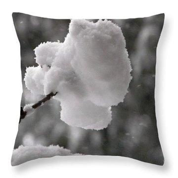 Cotton Snow Throw Pillow