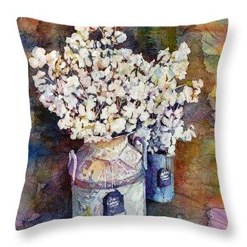 Cotton Stalks Throw Pillow